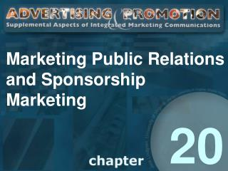Marketing Public Relations and Sponsorship              Marketing