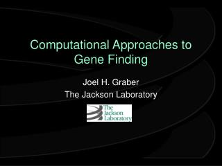 Computational Approaches to Gene Finding