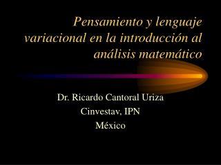 Pensamiento y lenguaje variacional en la introducción al análisis matemático