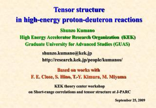 Tensor structure in high-energy proton-deuteron reactions