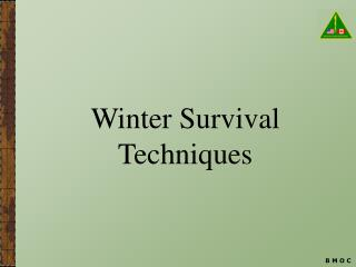 Winter Survival Techniques