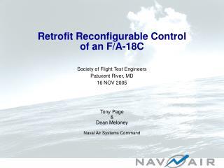 Retrofit Reconfigurable Control of an F/A-18C