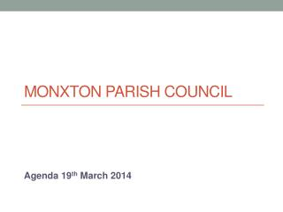 Monxton Parish Council