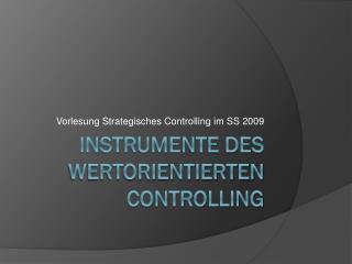 Instrumente des wertorientierten Controlling