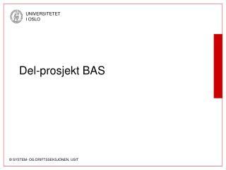 Del-prosjekt BAS
