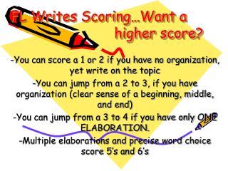 FL Writes Scoring…Want a     higher score?