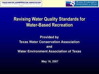 Revising Water Quality Standards for Water-Based Recreation