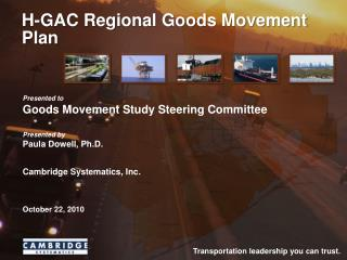 H-GAC Regional Goods Movement Plan