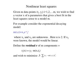 Nonlinear least squares