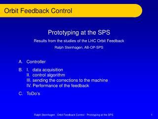 Orbit Feedback Control