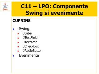 C11 – LPO: Componente Swing si evenimente