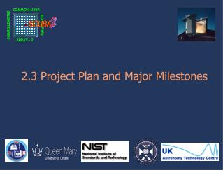 2.3 Project Plan and Major Milestones