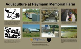 Aquaculture at Reymann Memorial Farm