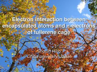 Electron interaction between encapsulated atoms and  p -electrons of fullerene cage