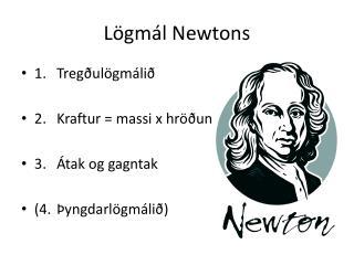 Lögmál Newtons