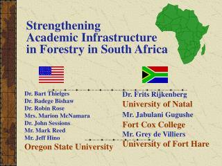 Strengthening  Academic Infrastructure   in Forestry in South Africa