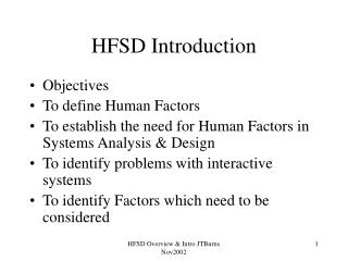 HFSD Introduction