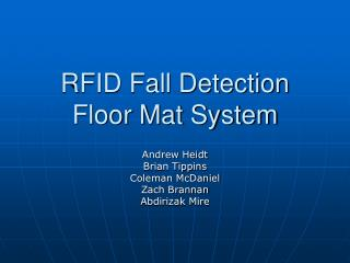 RFID Fall Detection Floor Mat System