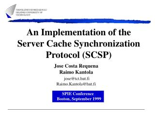 An Implementation of the Server Cache Synchronization Protocol (SCSP)
