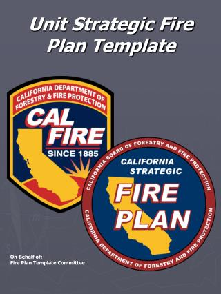 Unit Strategic Fire Plan Template