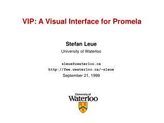 VIP: A Visual Interface for Promela