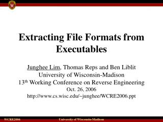Extracting File Formats from Executables