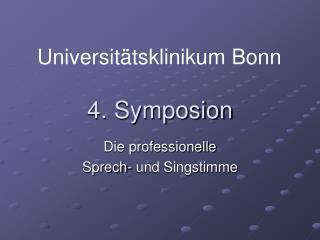 4. Symposion