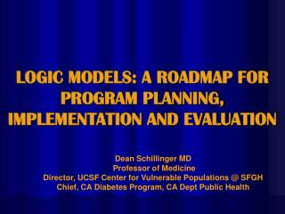 LOGIC MODELS: A ROADMAP FOR PROGRAM PLANNING, IMPLEMENTATION AND EVALUATION