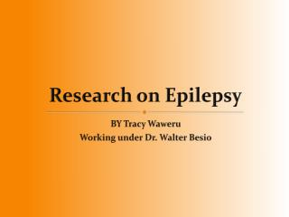 Research on Epilepsy