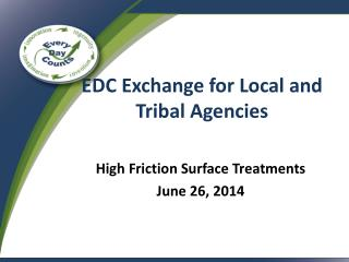 EDC Exchange for Local and Tribal Agencies