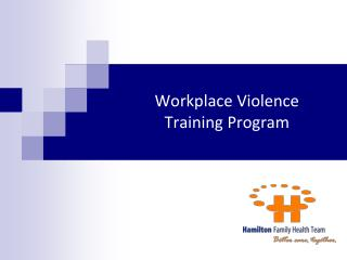 Workplace Violence  Training Program