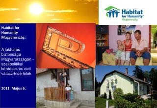 Habitat for Humanity Magyarország: