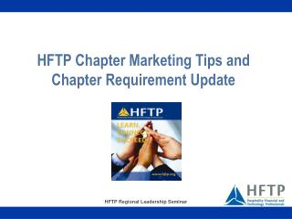 HFTP Chapter Marketing Tips and Chapter Requirement Update