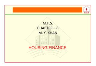 M.F.S. CHAPTER – 8 M. Y. KHAN