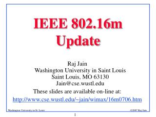 IEEE 802.16m Update