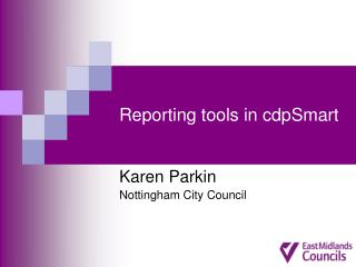 Reporting tools in cdpSmart