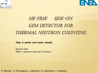 He-free     Side-on  GEM detector for  thermal neutron counting
