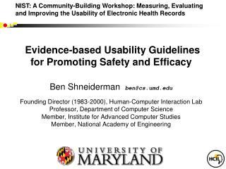 UMd  HCIL's work for NIH & ONC