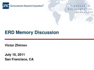 ERD Memory Discussion