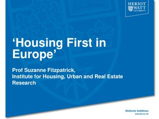 ' Housing First in Europe '