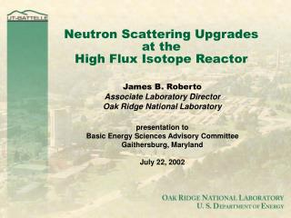 Neutron Scattering Upgrades  at the High Flux Isotope Reactor