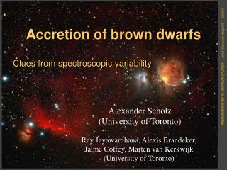 Accretion of brown dwarfs