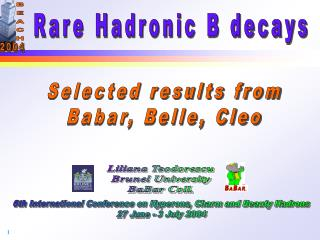 Rare Hadronic B decays