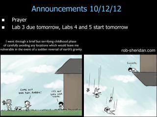 Announcements 10/12/12