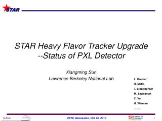 STAR Heavy Flavor Tracker Upgrade --Status of  PXL  Detector