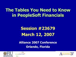 The Tables You Need to Know in PeopleSoft Financials