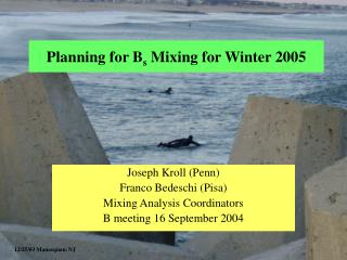 Planning for B s  Mixing for Winter 2005