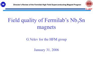 Field quality of Fermilab's Nb 3 Sn  magnets