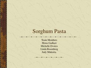 Sorghum Pasta