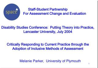 Melanie Parker,  University of Plymouth